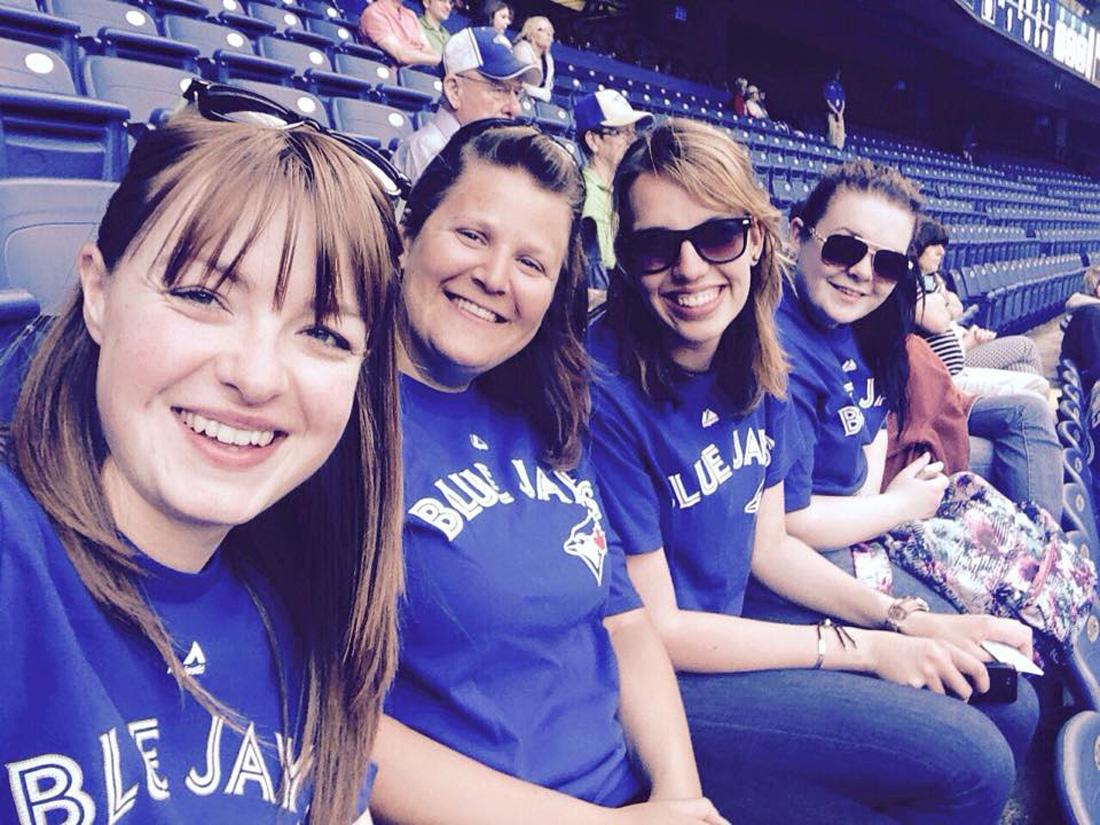 International Delegates in Zone 3 at Blue Jays game