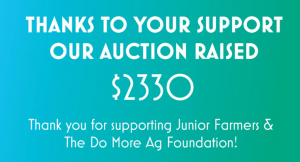 JFAO's Online Auction for Do More Ag