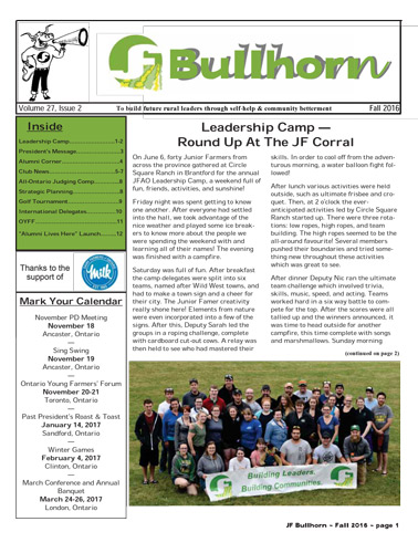 Bullhorn Vol 27 Issue 2 – 2016