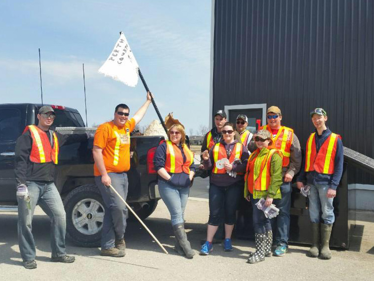 Perth County Junior Farmers Roadside Cleanup